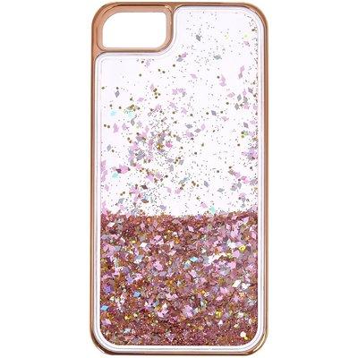 Rose Gold-Tone Liquid Filled Glitter Phone Case
