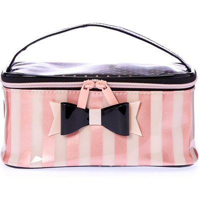 Paris Polka Dot and Striped Cosmetic Bag
