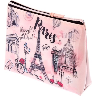 Paris Illustrated Cosmetic Bag