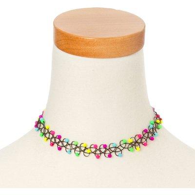 Neon Beads Tattoo Choker Necklace