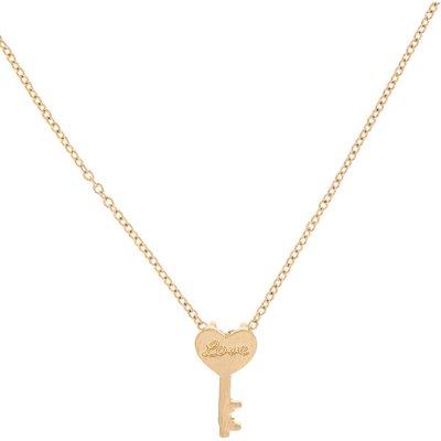 Gold-Tone Key Charm Necklace