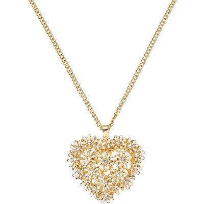 Daisy Heart Pendant Necklace