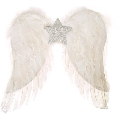 White Feather Dress Up Wings