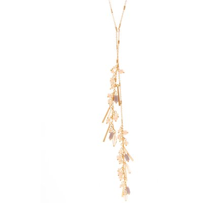 Long Cluster Bead Drop Necklace