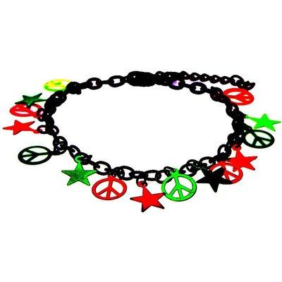 Black Chain Neon Charm Bracelet