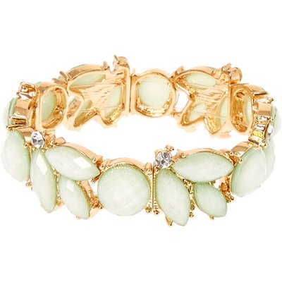Mint Flower Stretch Bracelet