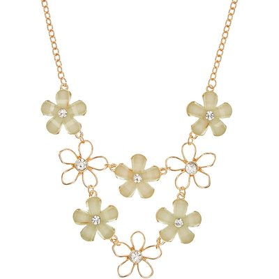 Gold-Tone Mint Flowers Necklace