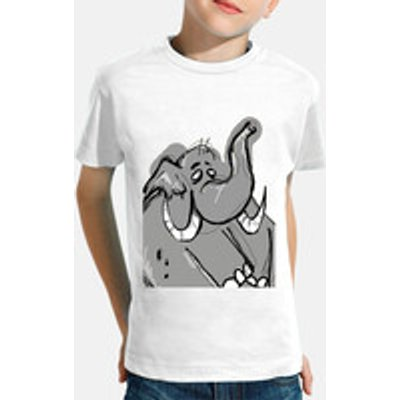 child, manga short, white / elephant