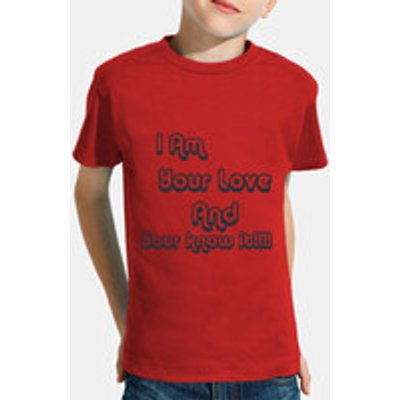 Children, short sleeve, red
