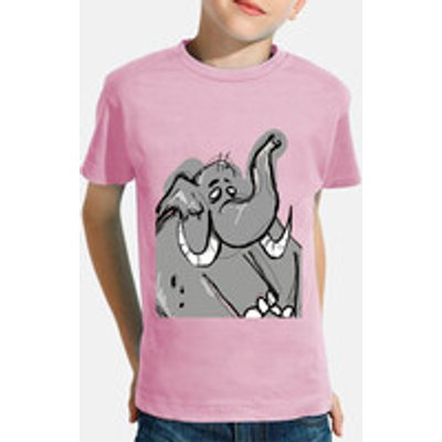 child, manga short, pink / elephant