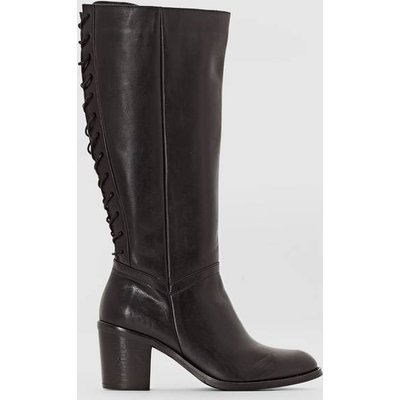 Leather Boots with Back Lacing