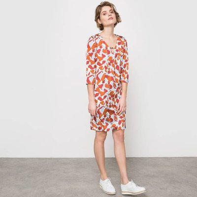 Scarf Print Tunic Dress