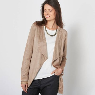 Faux Leather Panelled Jacket