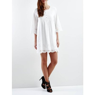Loose Fit Dress with Embroidered Detail