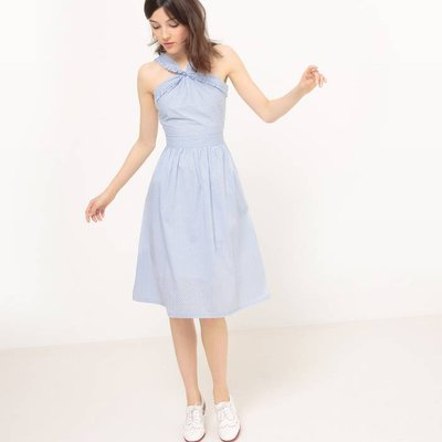 Poplin Polka Dot Wrap Dress