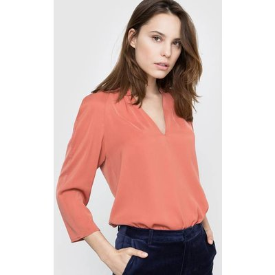 V-Neck Blouse with 3/4 Length Sleeves