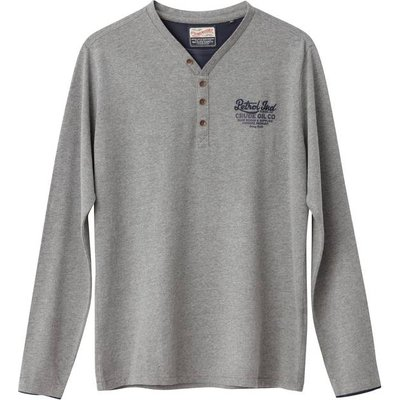 Cotton Grandad Collar T-Shirt