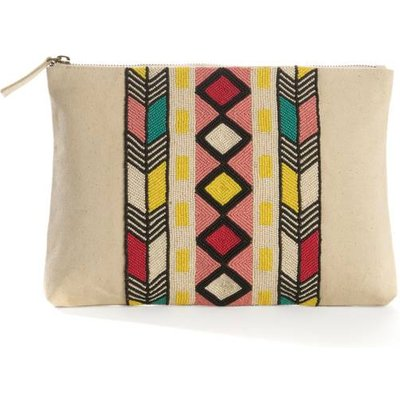 Clutch Bag with Ethnic Pattern