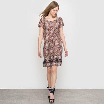 Short-Sleeved Printed Dress