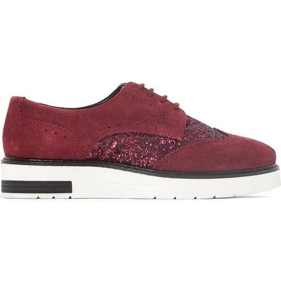 Glitter Detail Leather Wedge Brogues