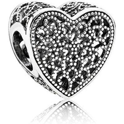 PANDORA Silver Heart Maze Charm