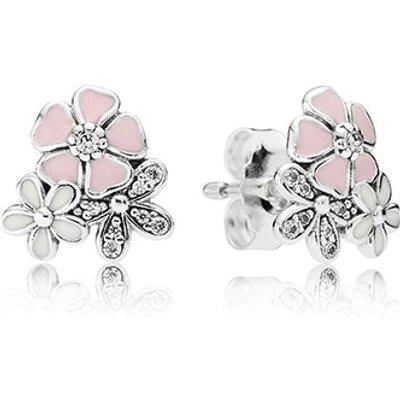 PANDORA Silver Poetic Blooms Earrings