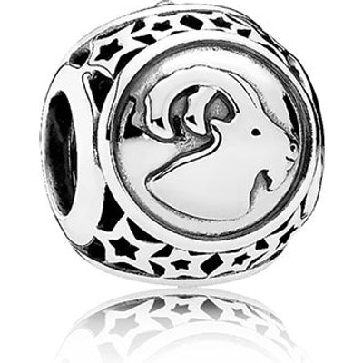 PANDORA Silver Capricorn Star Sign Charm