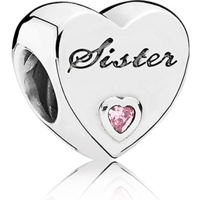 PANDORA Silver Sister's Love Charm