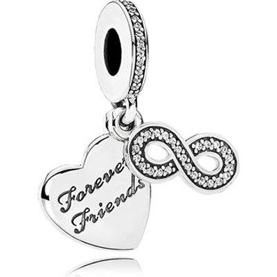 PANDORA Silver Forever Friends Pendant Charm