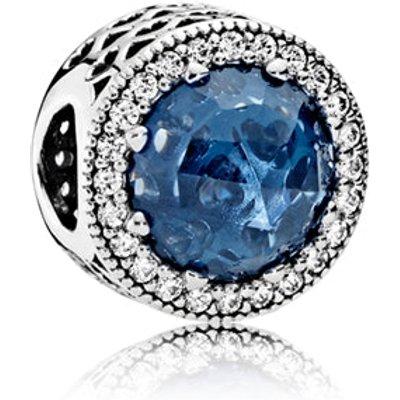 PANDORA Midnight Blue Radiant Hearts Charm