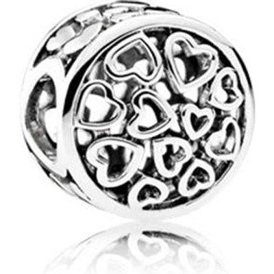 PANDORA Silver Openwork Heart Button