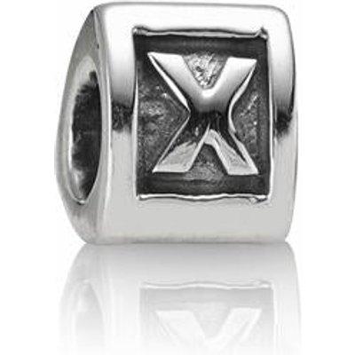 PANDORA Silver Letter X Charm