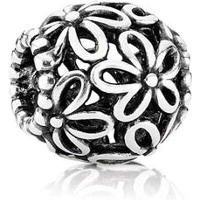 PANDORA Flower Openwork Silver Charm