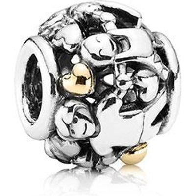 PANDORA Silver and 14ct Gold Family Charm