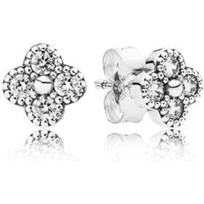 PANDORA Silver Oriental Blossom Earrings