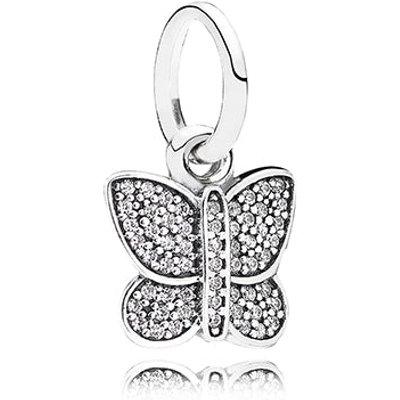PANDORA Sparkling Butterfly Pendant Charm