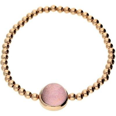 Qudo Caneva Big Bracelet Rose Gold Light Pink