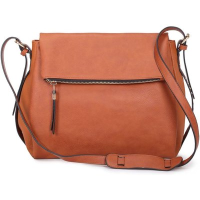 Long & Son Ladies Large Cross Body Handbag - Brown