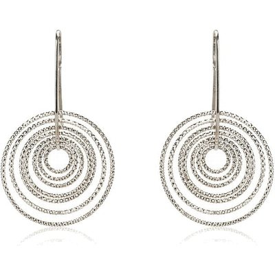 Penny Levi 'Radiance' Sterling Silver Hoop Earrings