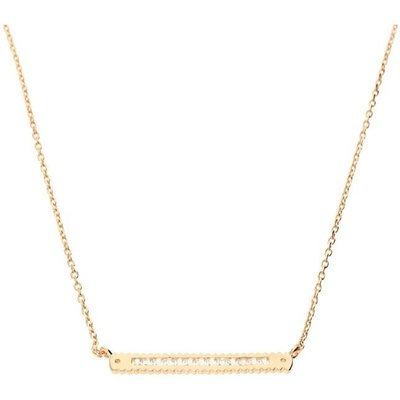 Zohara Cross Bar Necklace In Rose Gold