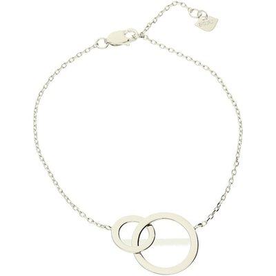 Zohara Interlocking Circle Bracelet In Silver