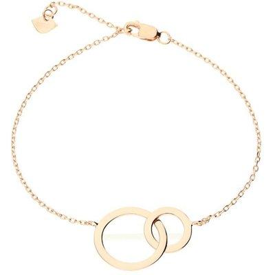 Zohara Interlocking Circle Bracelet In Rose Gold