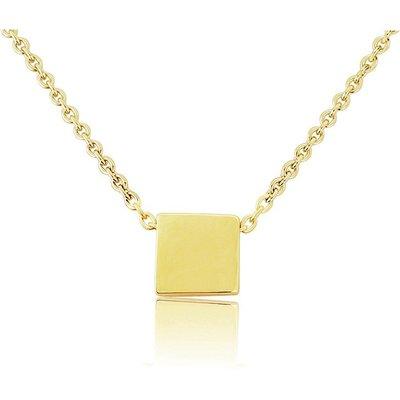 Mark Milton 9ct Yellow Gold Square Slider Pendant Necklace