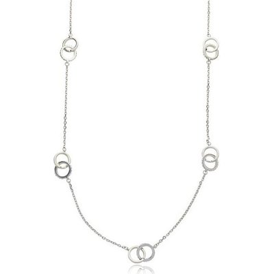 Knight And Day Light Rhodium And Crystal Necklace