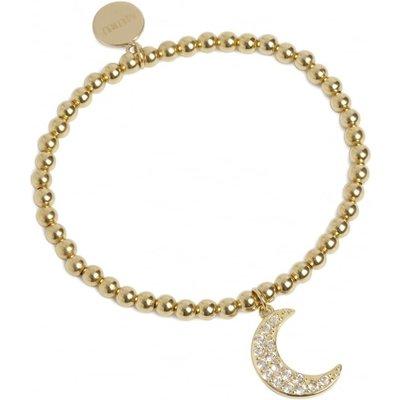 Muru Gold Crescent Topaz Bracelet