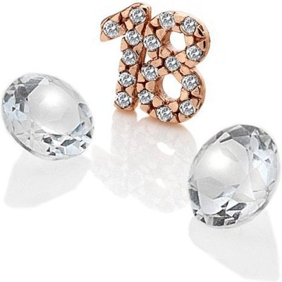 Anais Rose Gold 18 and White Topaz