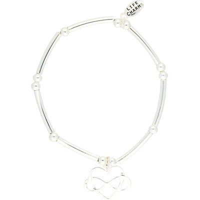 Life Charms Infinity Heart Silver Charm Bracelet