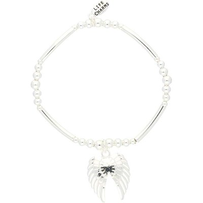 Life Charms Wings Silver Charm Bracelet
