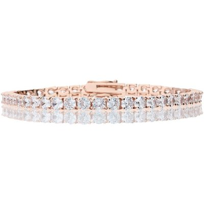 Bella Mia Rose Gold Crystal Tennis Bracelet with Hinge Clasp