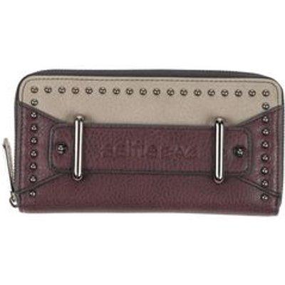 SELFIE BAG Small Leather Goods Wallets Women on YOOX.COM, Deep Purple